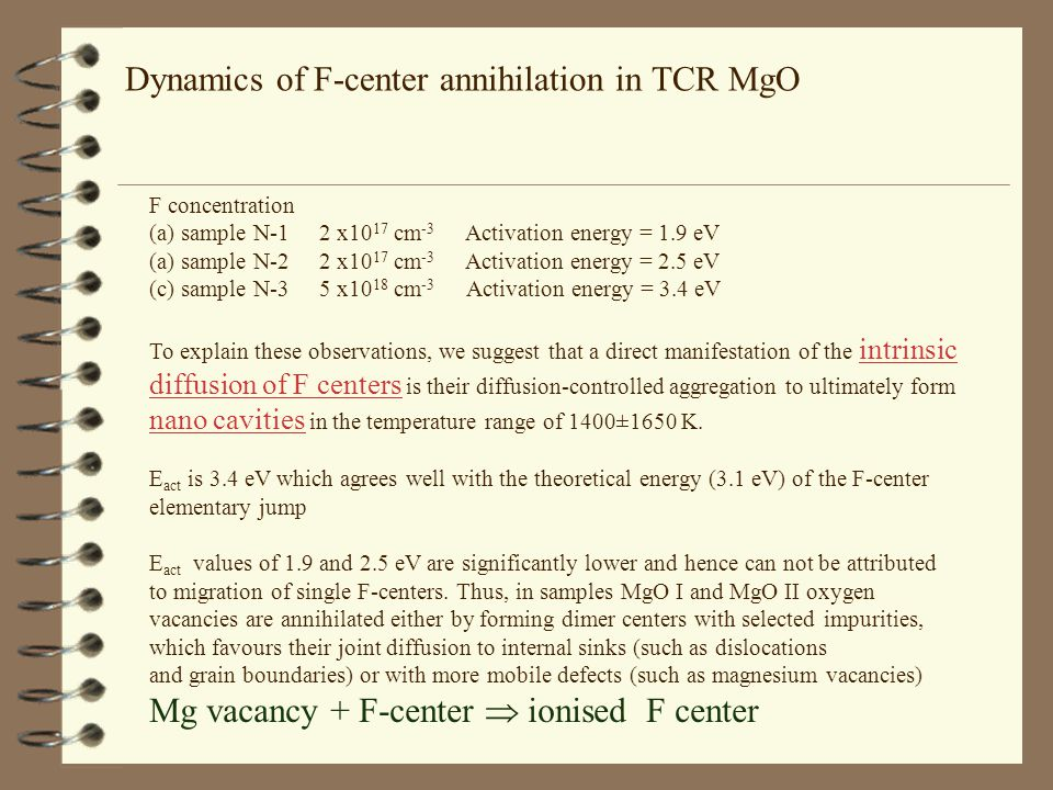 Dynamics of F-center annihilation in TCR MgO