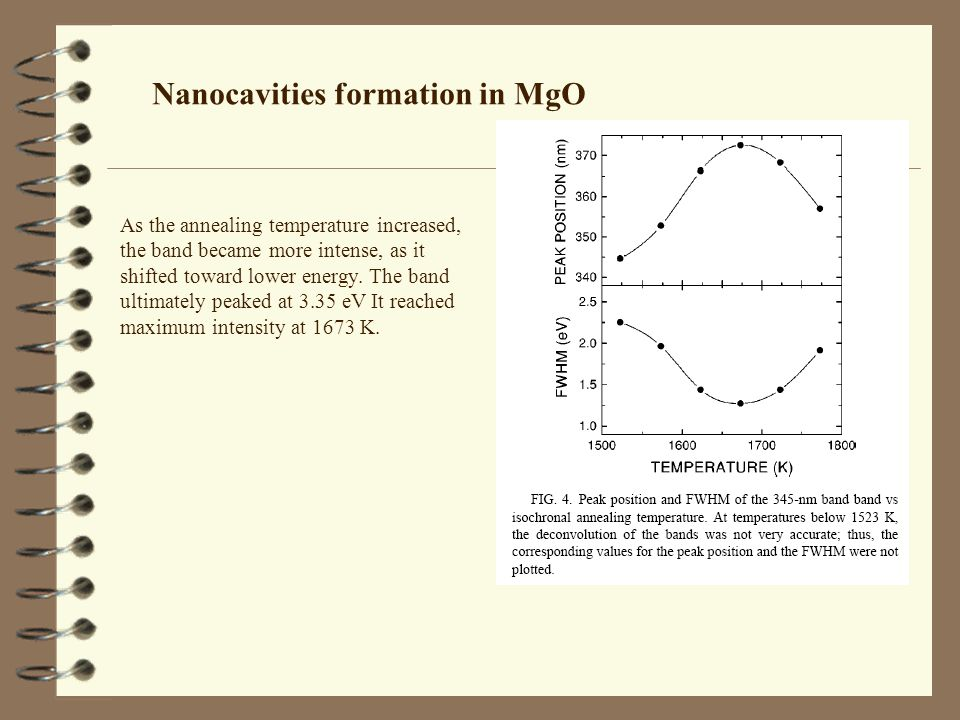 Nanocavities formation in MgO
