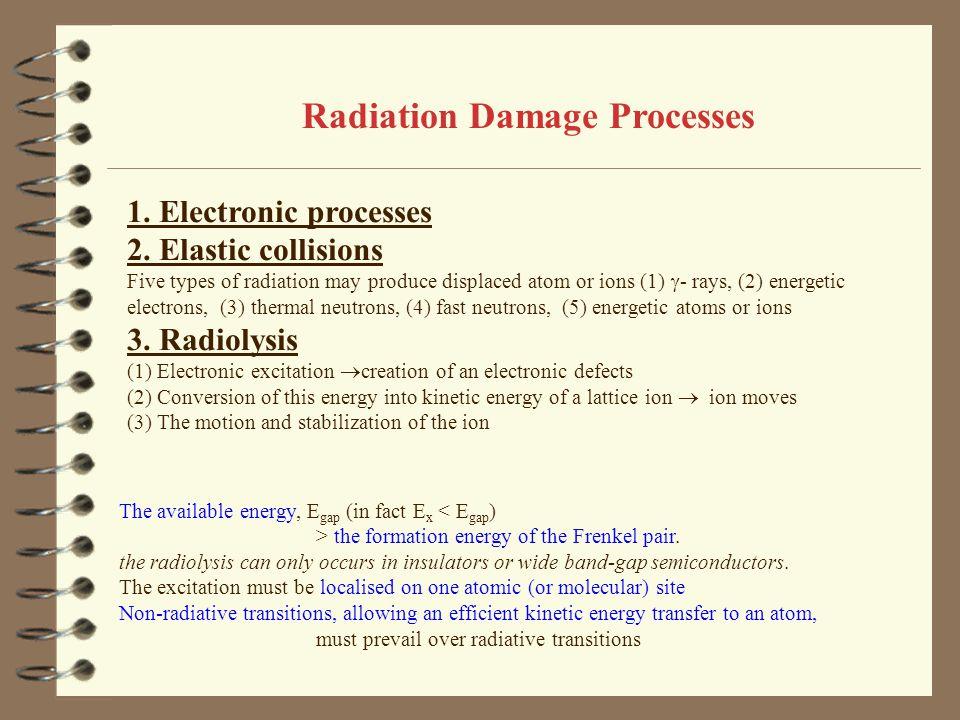 Radiation Damage Processes