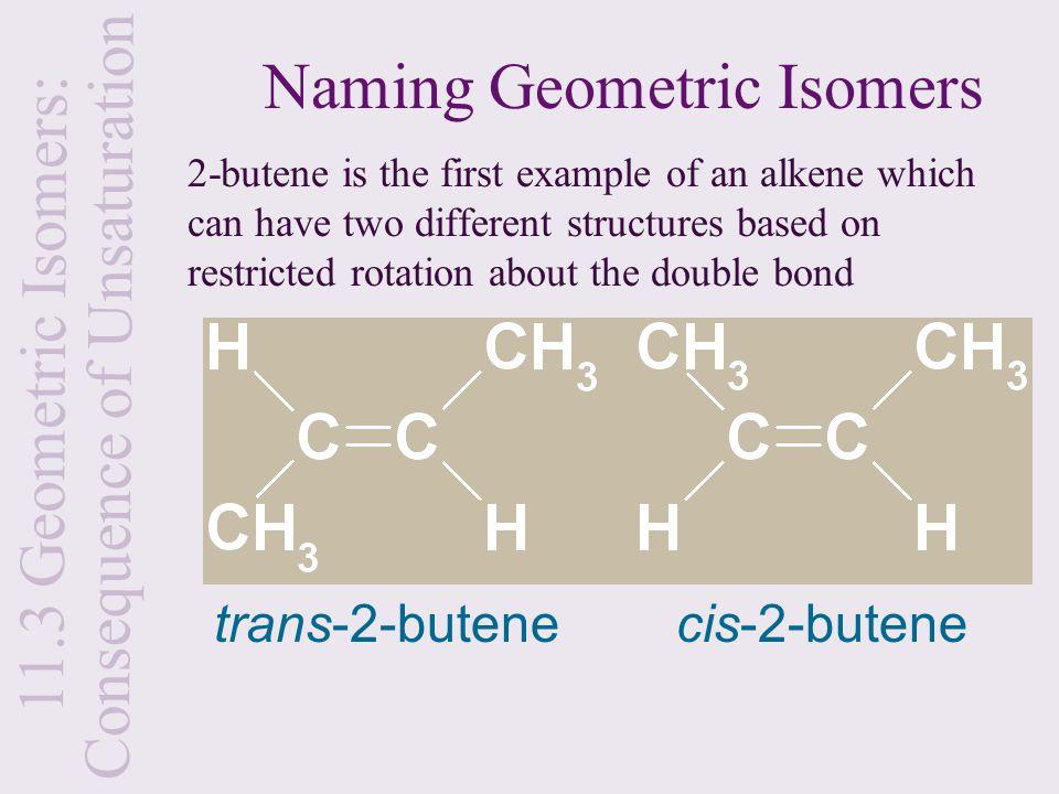 Naming Geometric Isomers