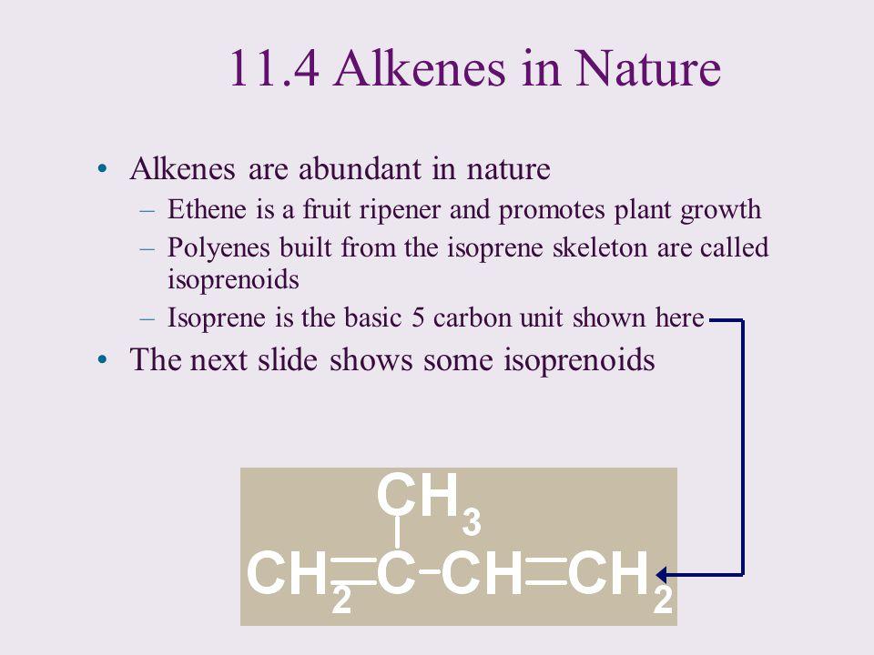 11.4 Alkenes in Nature Alkenes are abundant in nature