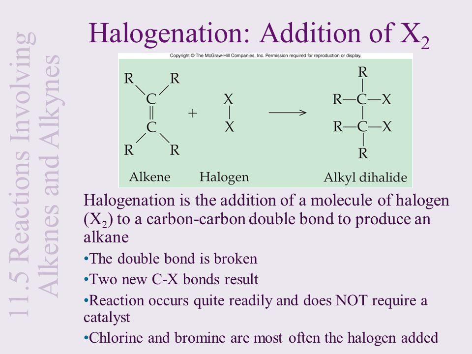 Halogenation: Addition of X2