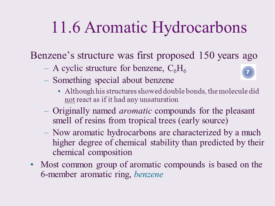 11.6 Aromatic Hydrocarbons