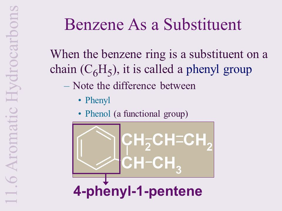 Benzene As a Substituent