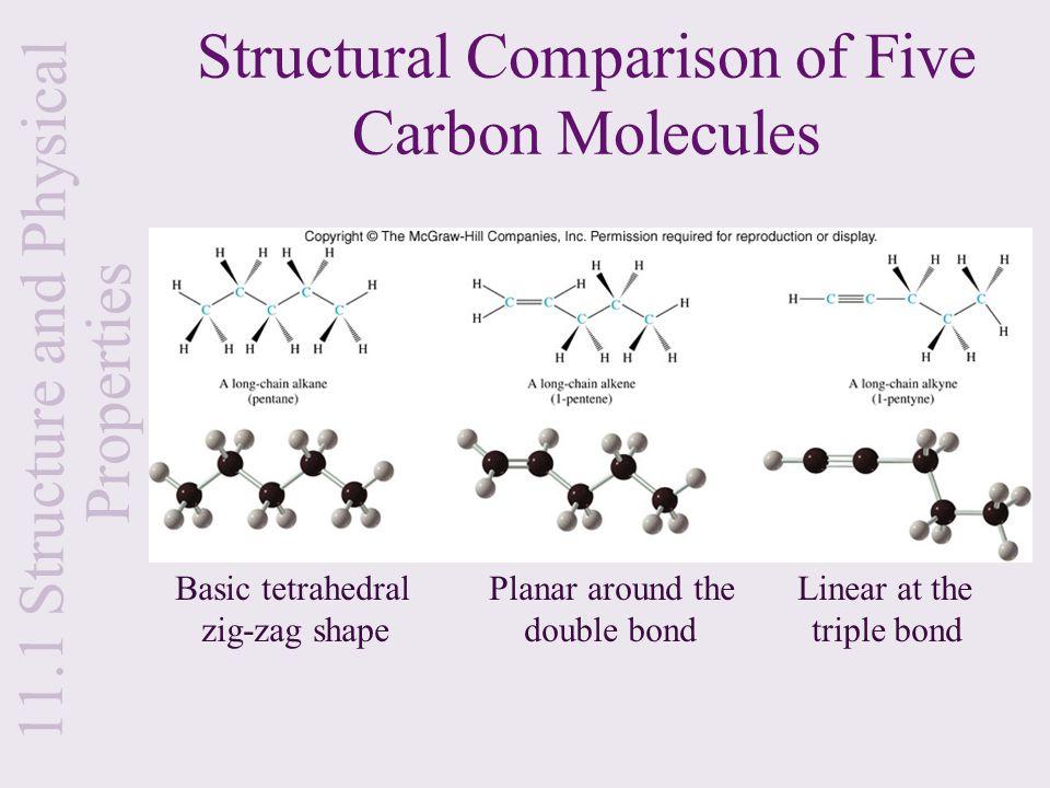 Structural Comparison of Five Carbon Molecules