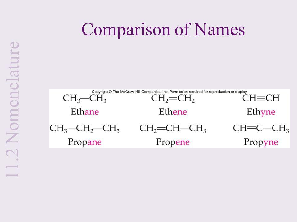 Comparison of Names 11.2 Nomenclature