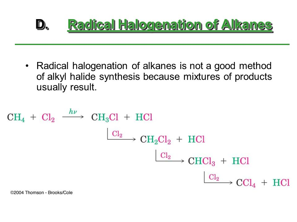 D. Radical Halogenation of Alkanes