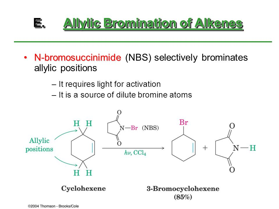 E. Allylic Bromination of Alkenes