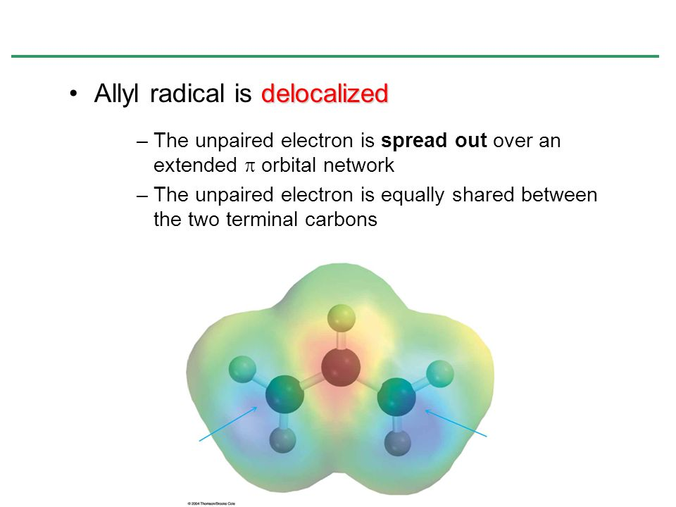 Allyl radical is delocalized