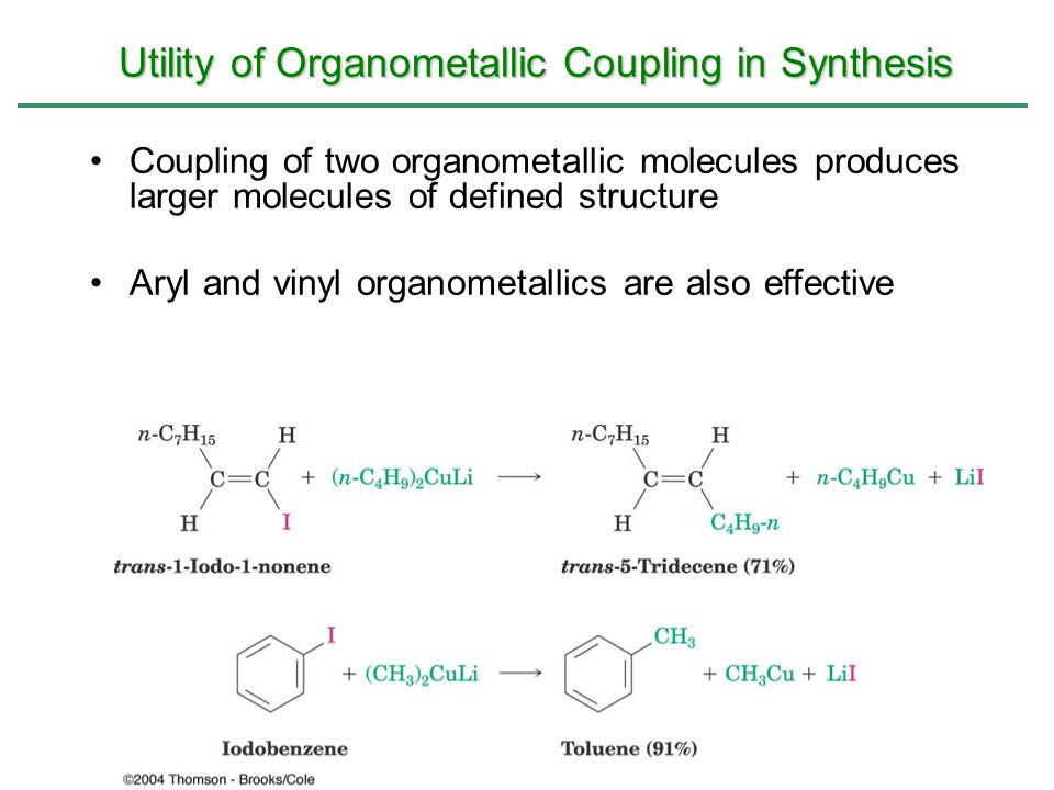 Utility of Organometallic Coupling in Synthesis