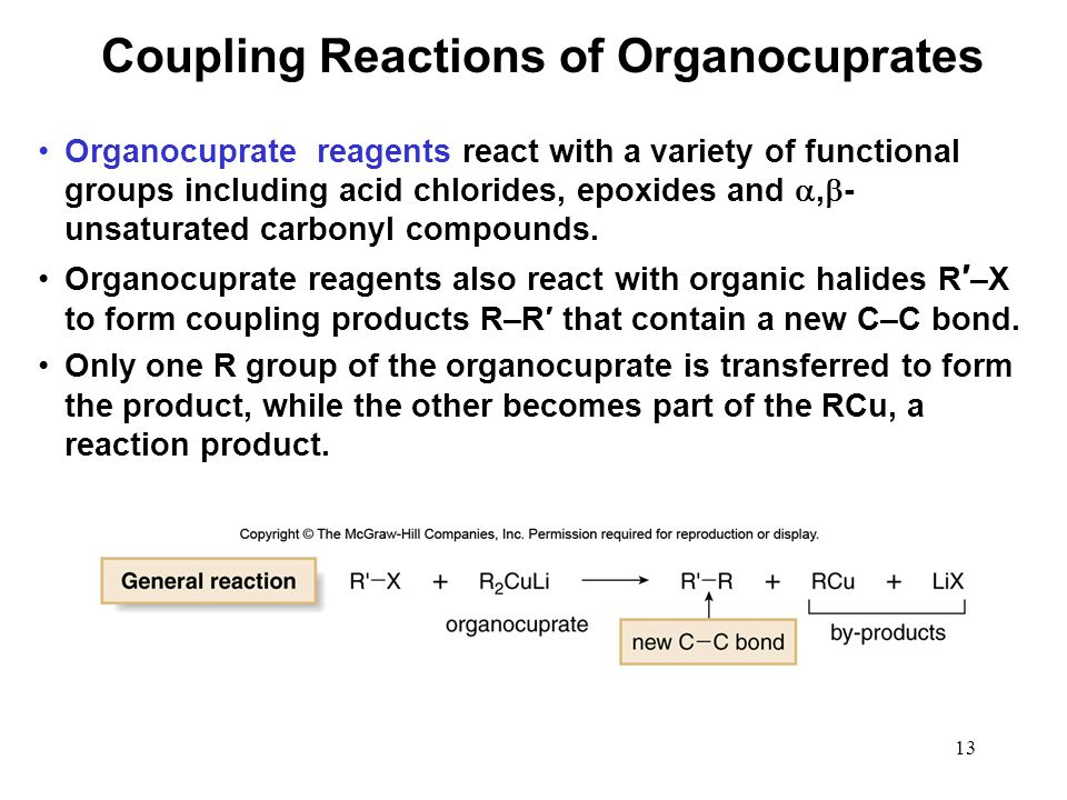 Coupling Reactions of Organocuprates