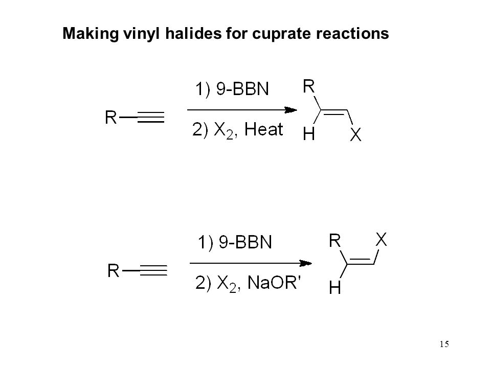 Making vinyl halides for cuprate reactions