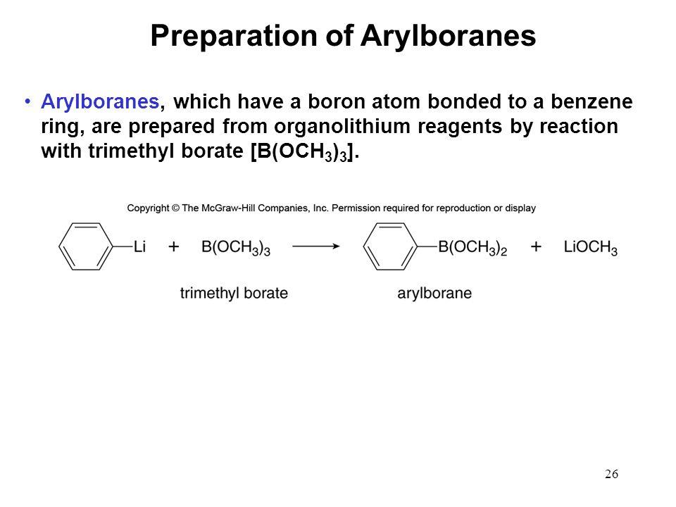 Preparation of Arylboranes