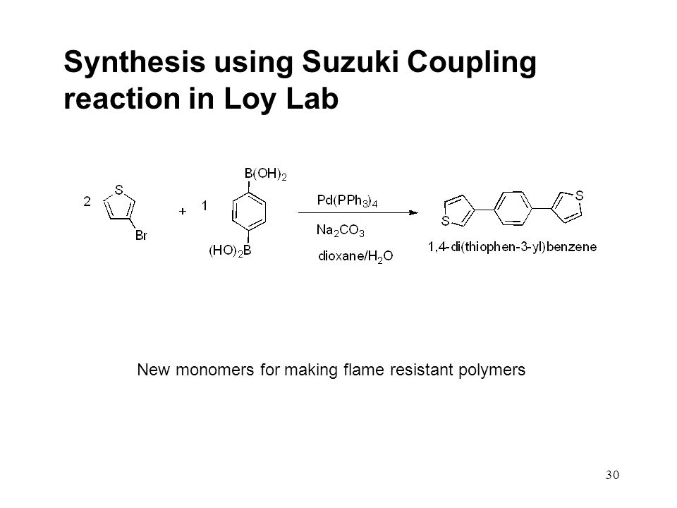 Synthesis using Suzuki Coupling reaction in Loy Lab