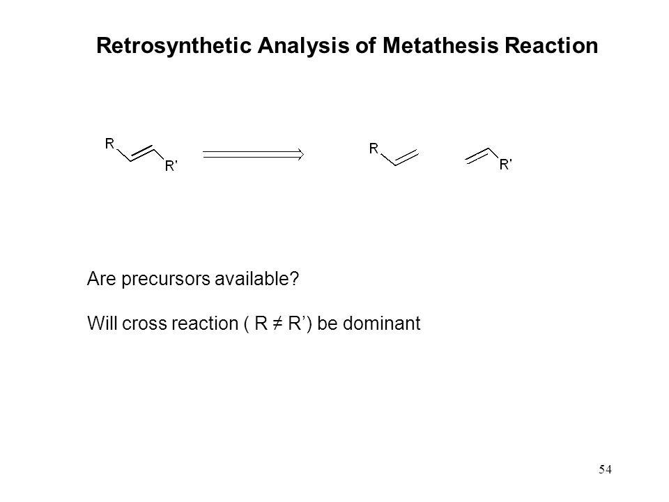 Retrosynthetic Analysis of Metathesis Reaction