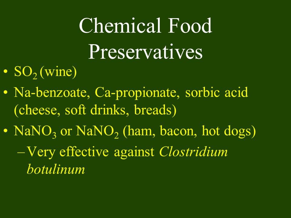 Chemical Food Preservatives