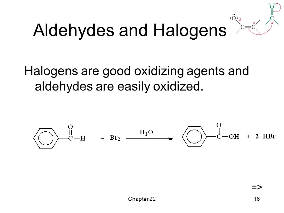 Aldehydes and Halogens