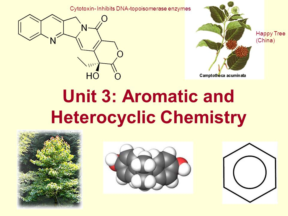 Unit 3: Aromatic and Heterocyclic Chemistry