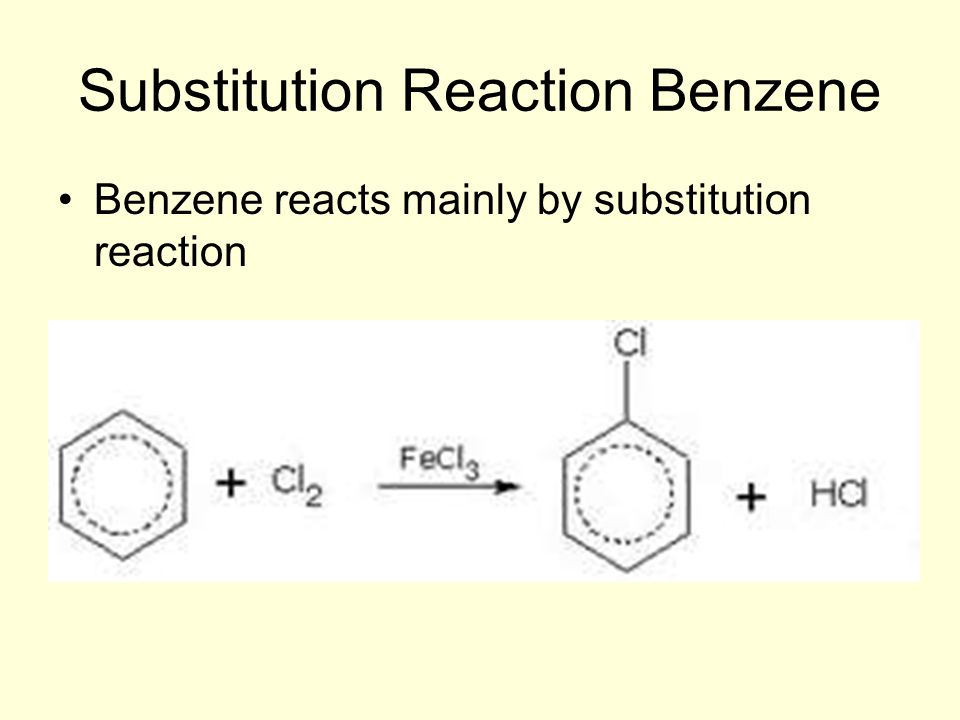 Substitution Reaction Benzene