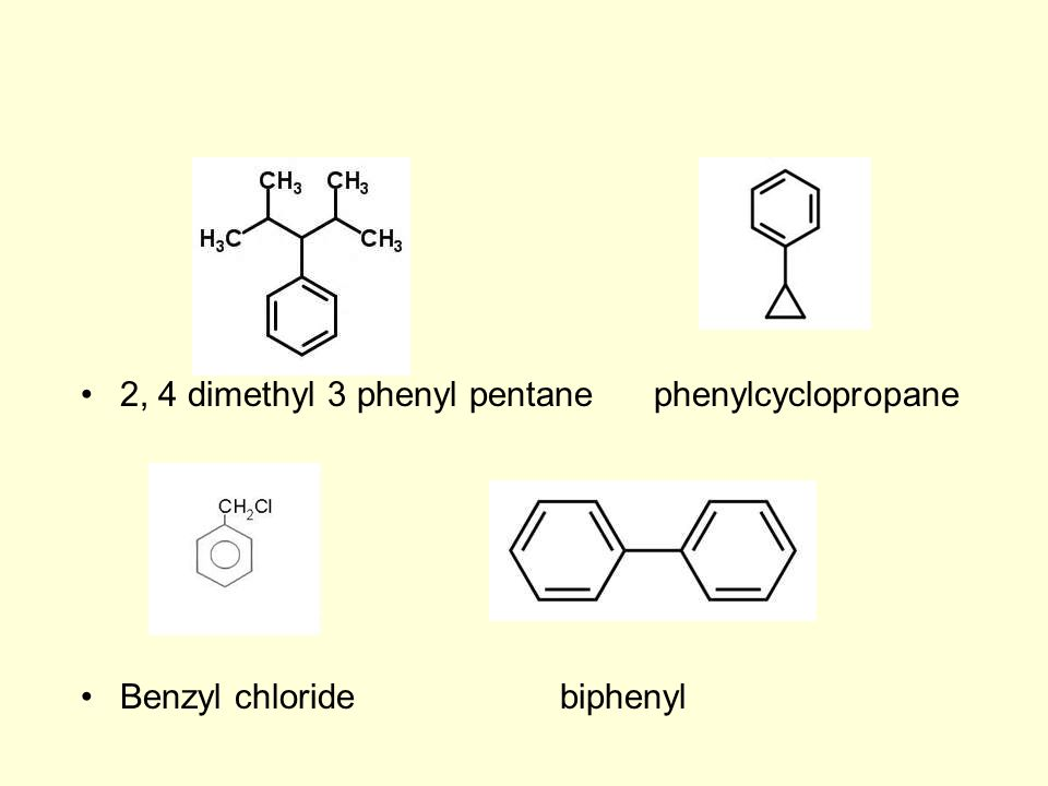 2, 4 dimethyl 3 phenyl pentane phenylcyclopropane