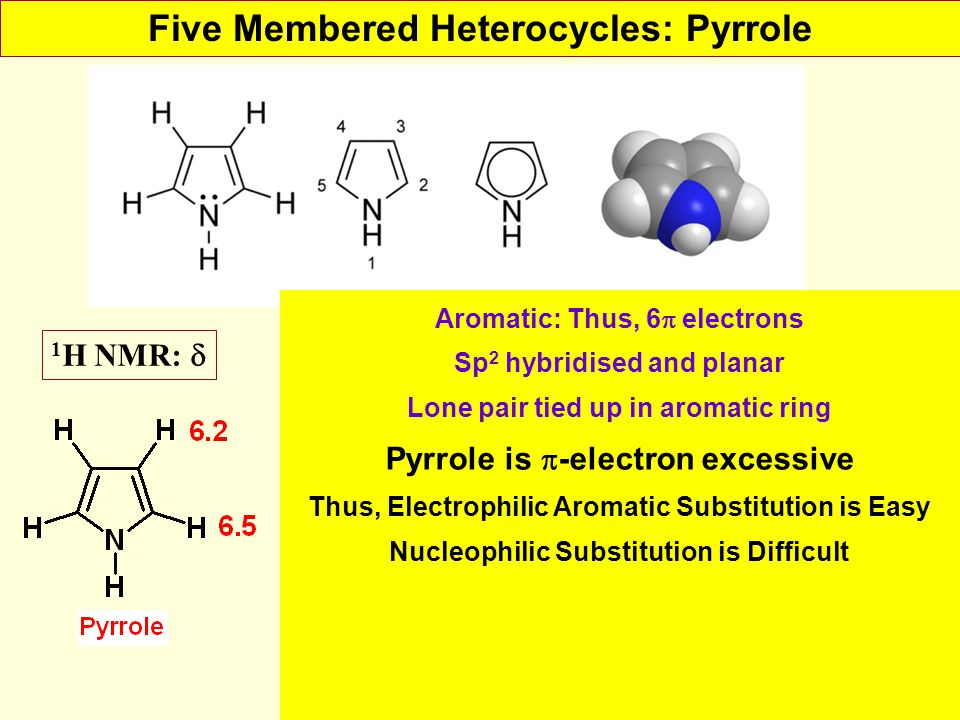 Five Membered Heterocycles: Pyrrole
