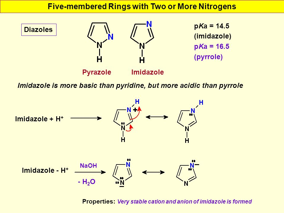 Five-membered Rings with Two or More Nitrogens