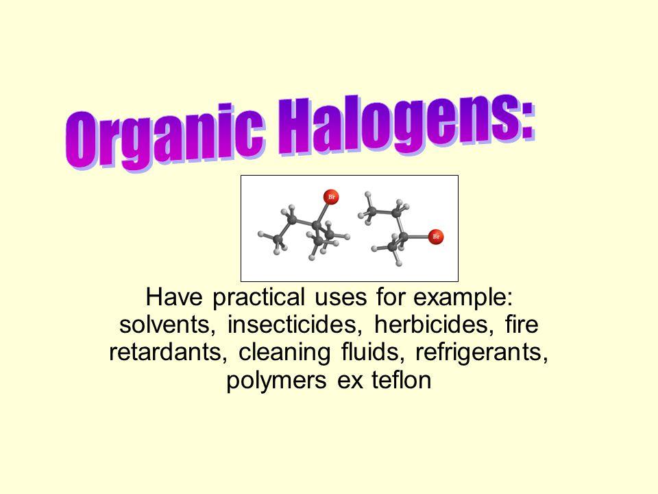 Organic Halogens: