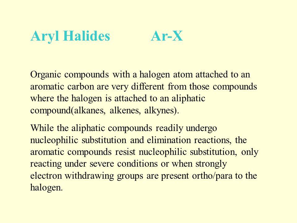 Aryl Halides Ar-X