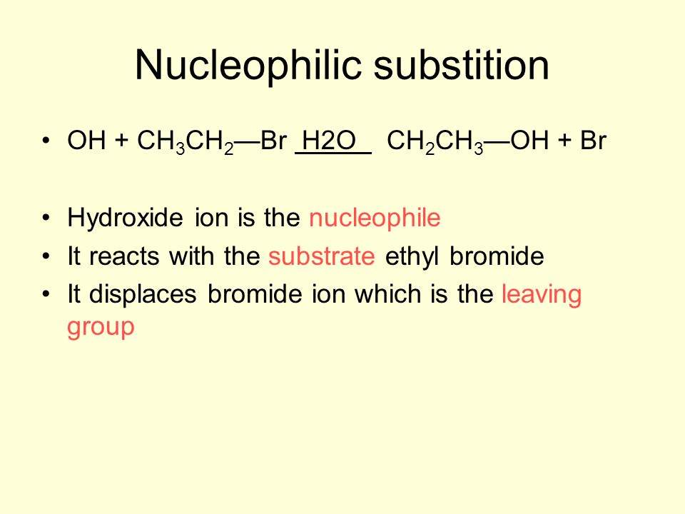 Nucleophilic substition