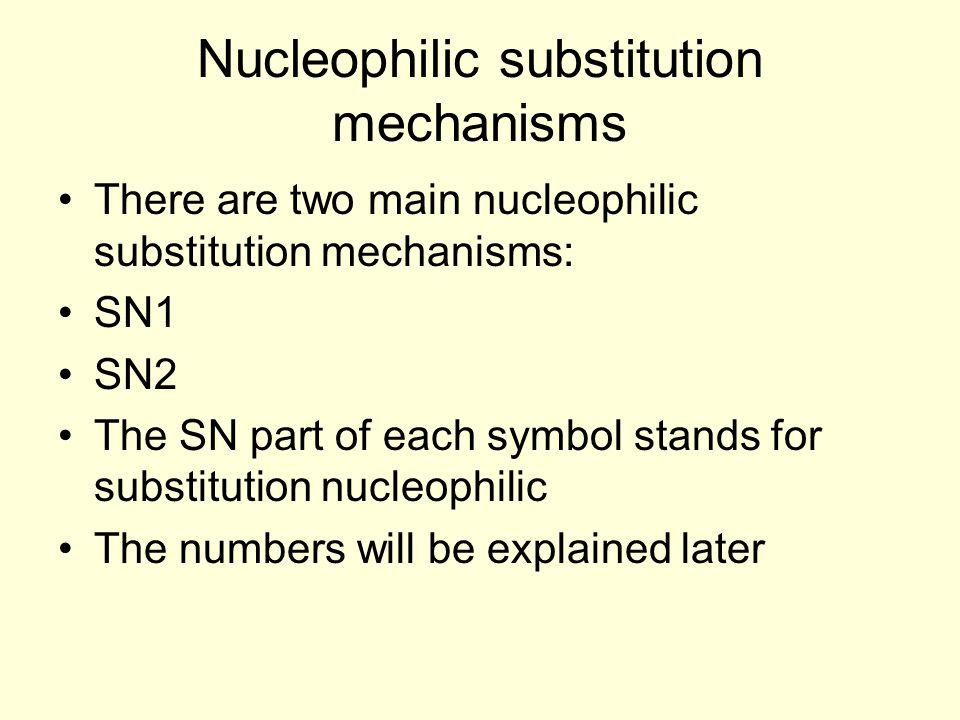 Nucleophilic substitution mechanisms