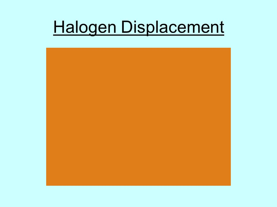Halogen Displacement