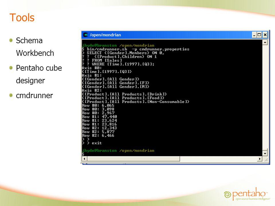 Tools Schema Workbench Pentaho cube designer cmdrunner
