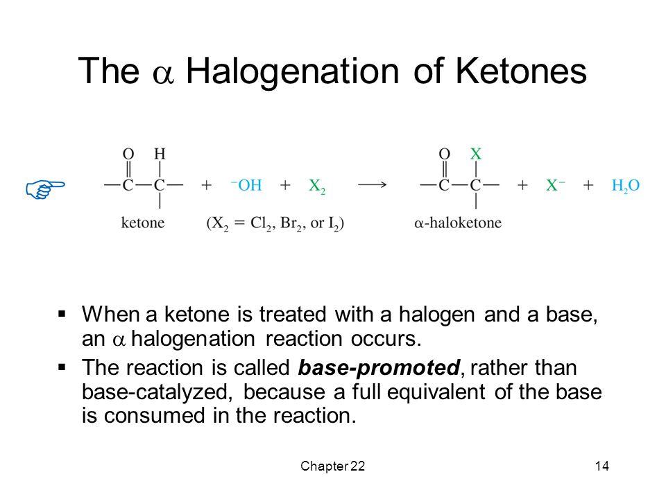 The a Halogenation of Ketones
