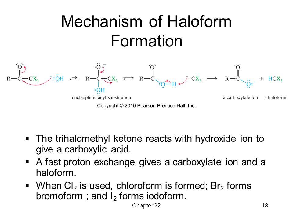 Mechanism of Haloform Formation