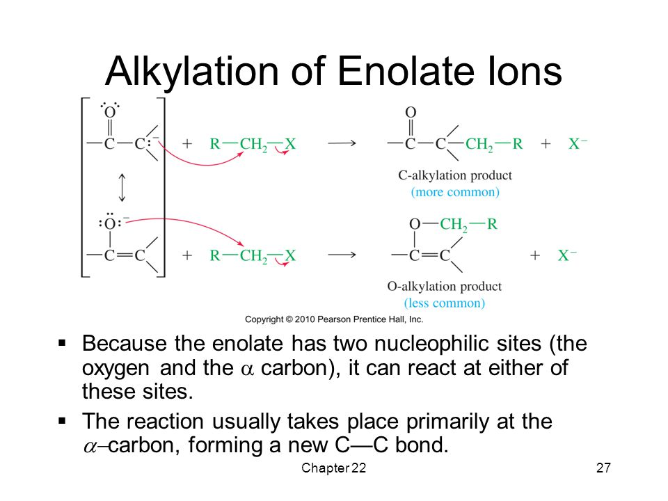 Alkylation of Enolate Ions
