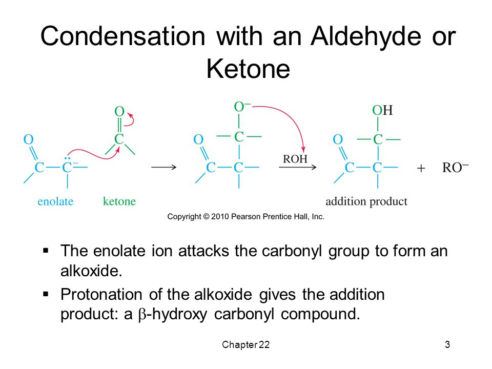 Condensation with an Aldehyde or Ketone