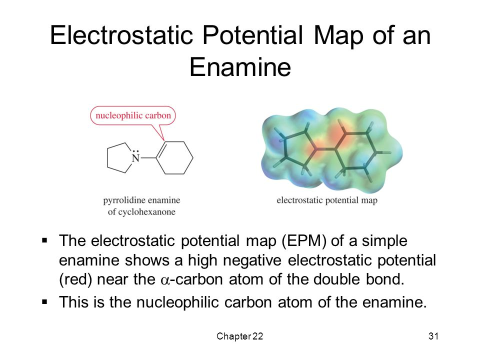 Electrostatic Potential Map of an Enamine