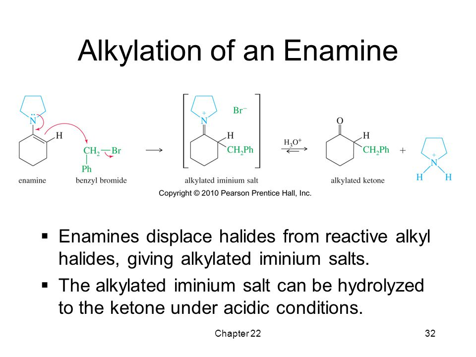 Alkylation of an Enamine