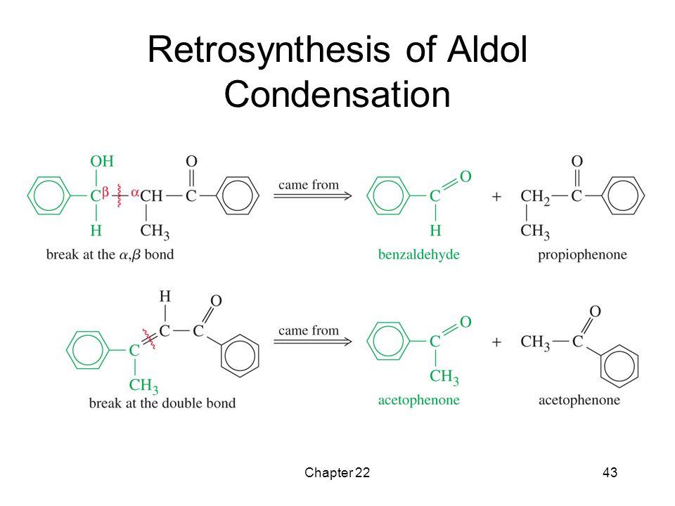 Retrosynthesis of Aldol Condensation