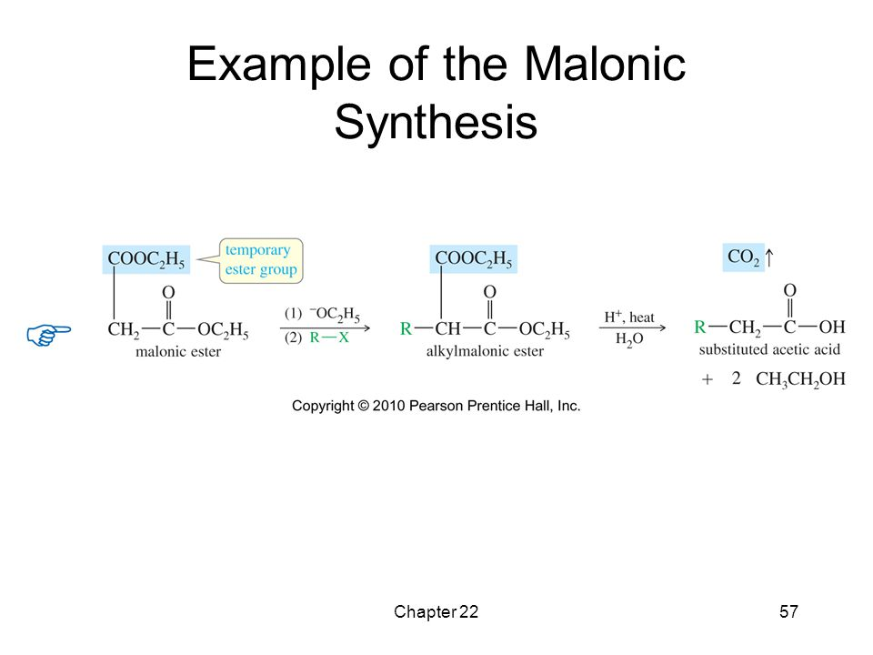 Example of the Malonic Synthesis