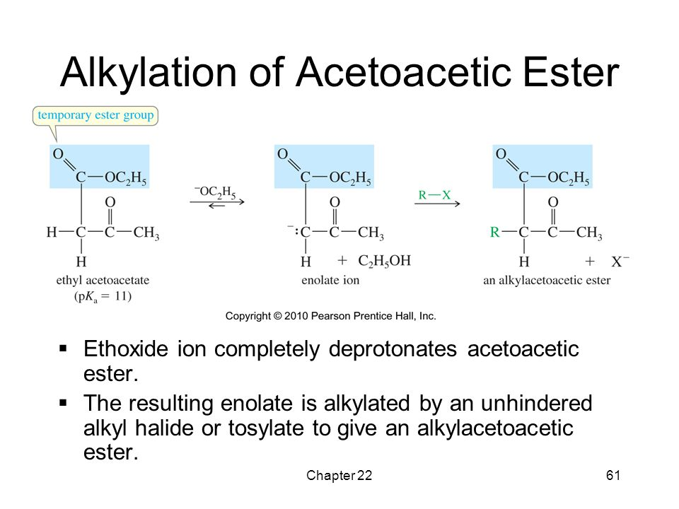 Alkylation of Acetoacetic Ester