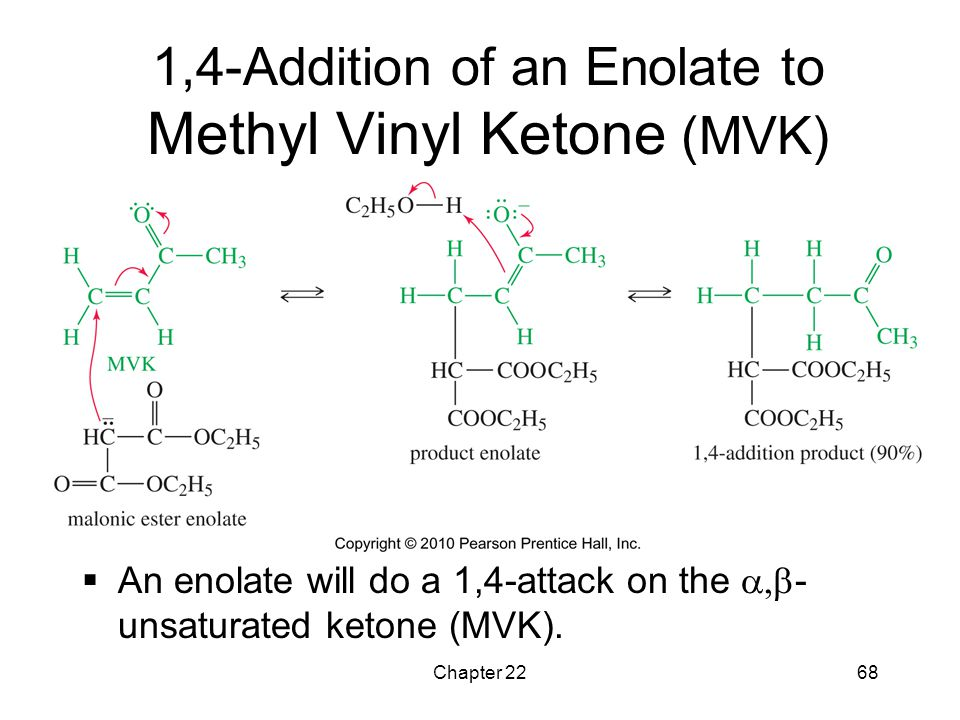 1,4-Addition of an Enolate to Methyl Vinyl Ketone (MVK)