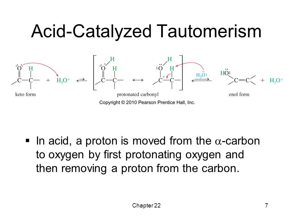 Acid-Catalyzed Tautomerism
