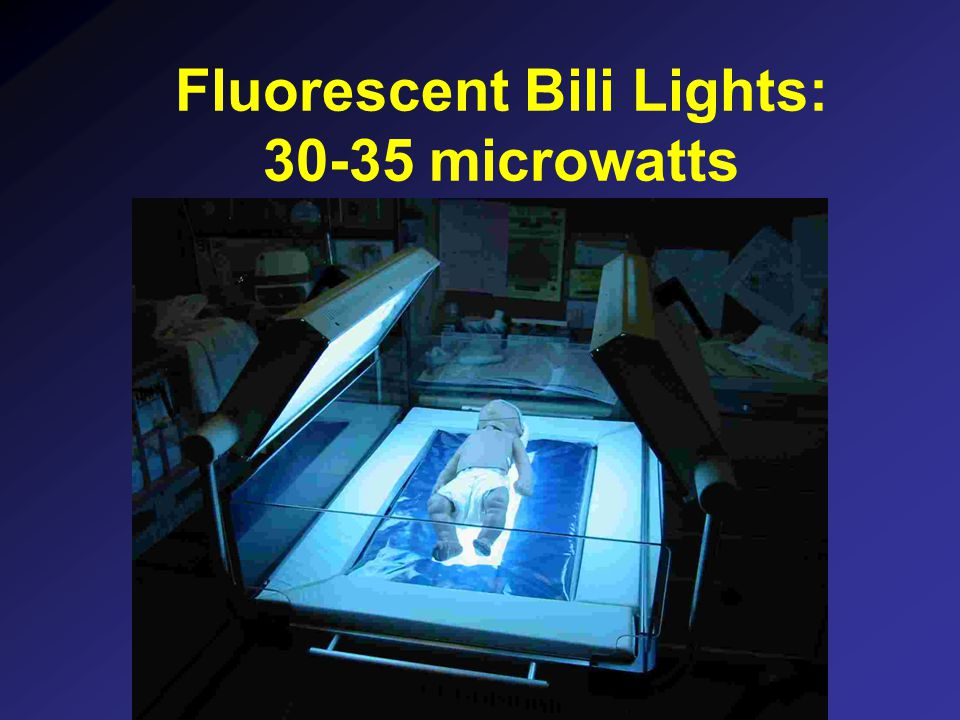 Fluorescent Bili Lights: 30-35 microwatts