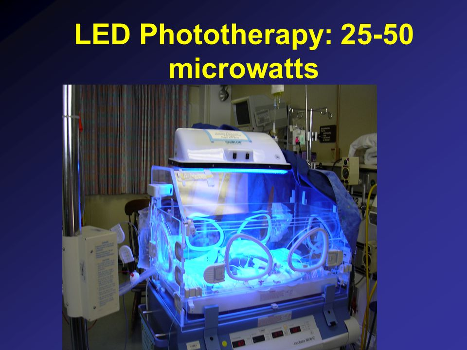 LED Phototherapy: 25-50 microwatts