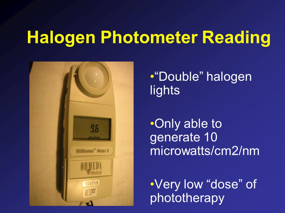 Halogen Photometer Reading