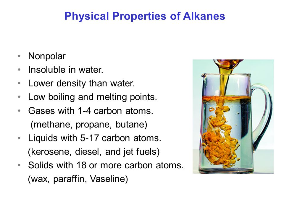Physical Properties of Alkanes