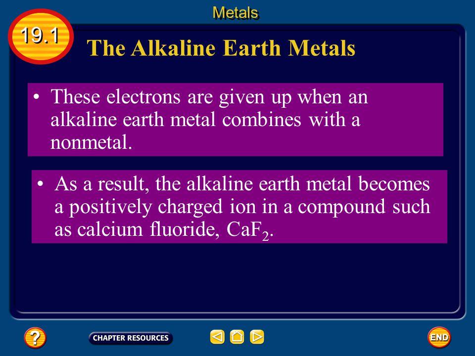 The Alkaline Earth Metals