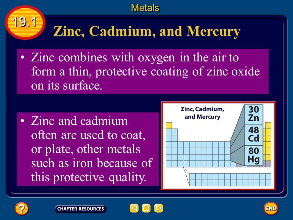 Zinc, Cadmium, and Mercury