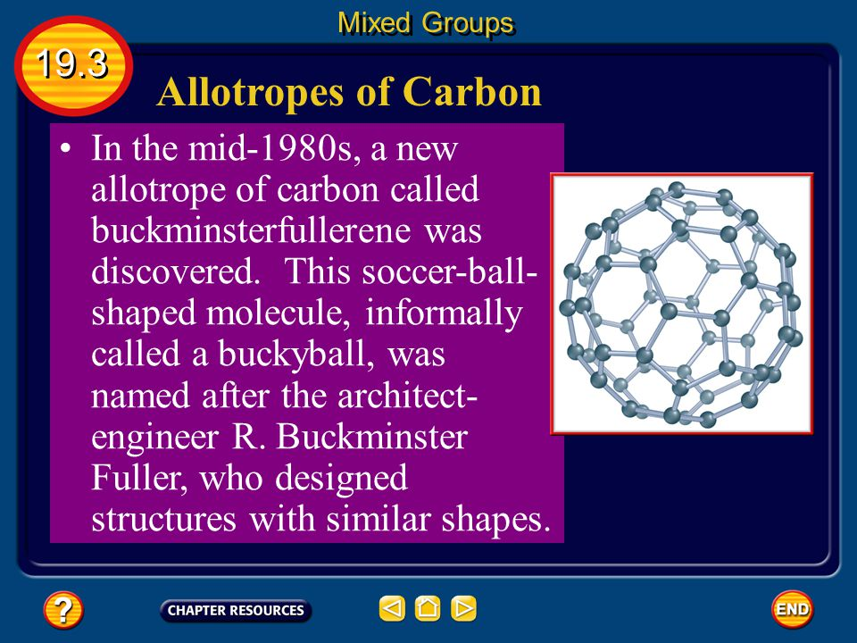 Mixed Groups 19.3. Allotropes of Carbon.